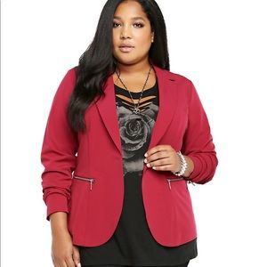 Torrid light weight blazer red cranberry color